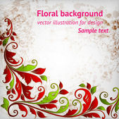 Abstract floral background with place for your text — Stock Vector