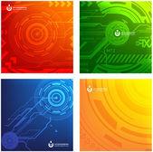 Abstract set of techno vectors. — Stock Vector
