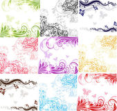 Set of floral banners — Stock Vector