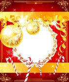 Elegante fundo de Natal com enfeites — Vetor de Stock