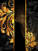 Summer black golden banner — Stock Vector