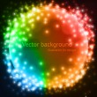 Abstract colorful circles vector background for design. - Stock Vector