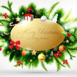 Christmas background with baubles and christmas tree - Vettoriali Stock