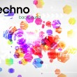 Royalty-Free Stock Imagen vectorial: Techno background.