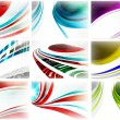 Abstract technology vector background set — Stock Vector