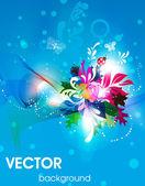 Vector ilustración de primavera para el diseño de verano. — Vector de stock