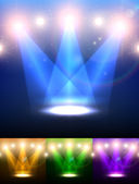 Vector Stage Spotlight. set — Stock Vector