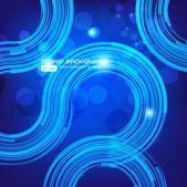 Résumé de la technologie rétro cercles vecteur fond pour la conception de l'entreprise — Vecteur