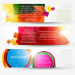 Abstract header vector set — Vektorgrafik