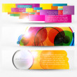 Abstract header vector set — Stock Vector