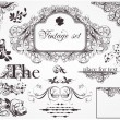 Vector set: calligraphic design elements and page decoration — Stock Vector #16648777