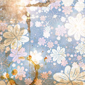 Carta floreale vintage di eleganza — Vettoriale Stock