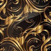 ゴールド、シームレスな壁紙パターン ベクトルします。 — ストックベクタ