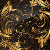 Seamless wallpaper pattern gold, vector — Cтоковый вектор