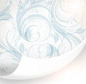 无缝白色锦缎壁纸 — 图库矢量图片