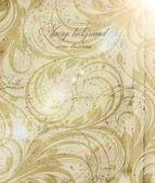 Klassieke wand-papier met een bloemenpatroon — Stockvector