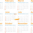 Simple modern calendar for 2010 - Vettoriali Stock 
