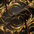 Seamless wallpaper pattern gold, vector — Stock Vector