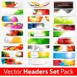 Stock Vector: Abstract vector shining background. set