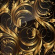 Seamless wallpaper pattern gold, vector — Stock Vector #16654311