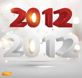 New Years 3D card 2012 with back light and place for your text — Stock Vector