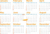 Simple modern calendar for 2010 — Vettoriale Stock