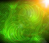 无缝壁纸背景与阳光、 辉光火花和星星。多彩夏季设计 — 图库矢量图片