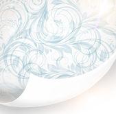 Seamless white Damask wallpaper — Vector de stock