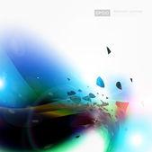 Arte digital abstracto vector — Vector de stock