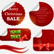 Christmas labels and stickers set — Stock Vector