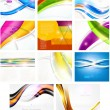 Abstract vector background set: 8 backgrounds — Stock vektor