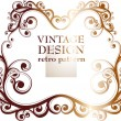 Set of ornate vintage vector frames for retro invitation design - Stock Vector
