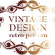 Stock Vector: Vintage design template. Retro frames, ornaments.