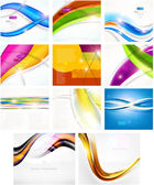 Abstract vector background set: 8 backgrounds — ストックベクタ