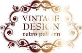 Modelo de design vintage. quadros retrô, ornamentos. — Vetorial Stock
