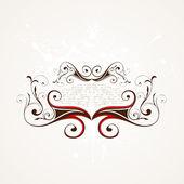 Vintage design template. Retro frames, ornaments. — Stock Vector