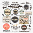 Old style Coffee frames and labels. — Stock Vector #16990843