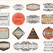 Old style Coffee frames and labels. — Stockvektor