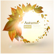 Autumn Background-Autumn Leaves Falling — Stock Vector
