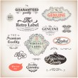 Royalty-Free Stock Vector Image: Retro style label collection for vintage design. Old paper texture background