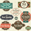 Retro style label collection for vintage design. Old paper texture background - Stock Vector