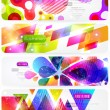 Stock Vector: Abstract header vector set