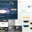 Royalty-Free Stock Векторное изображение: Web design elements extreme collection for business design. Big set with charts, diagrams, buttons, icons and speech bubbles