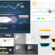 Royalty-Free Stock Vectorafbeeldingen: Web design elements extreme collection for business design. Big set with charts, diagrams, buttons, icons and speech bubbles