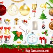 Big Christmas set — Stockvectorbeeld