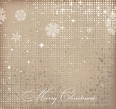 Retro vector Christmas background with white snowflakes and place for your text — Stock Vector