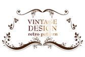 Quadro floral vintage. elemento para o projeto. — Vetor de Stock