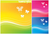 Abstract summer backgrounds for design. — Stock Vector