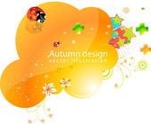 Abstract vector flower element for design. — Stock Vector