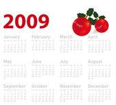 Calendario 2009 — Vector de stock